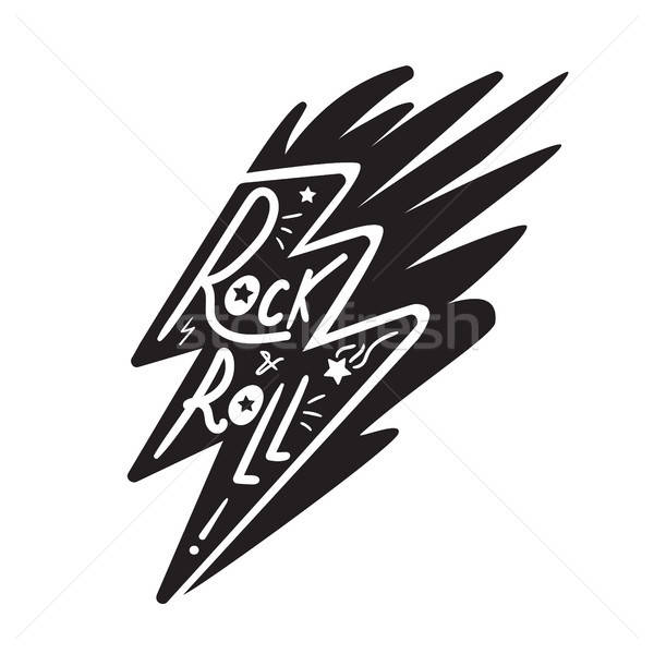Rock and Roll Lettering Stock photo © barsrsind