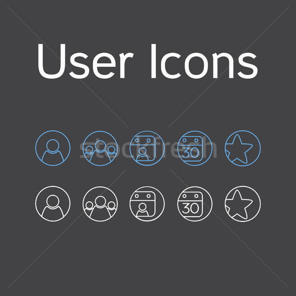 Vector User Icons Stock photo © barsrsind