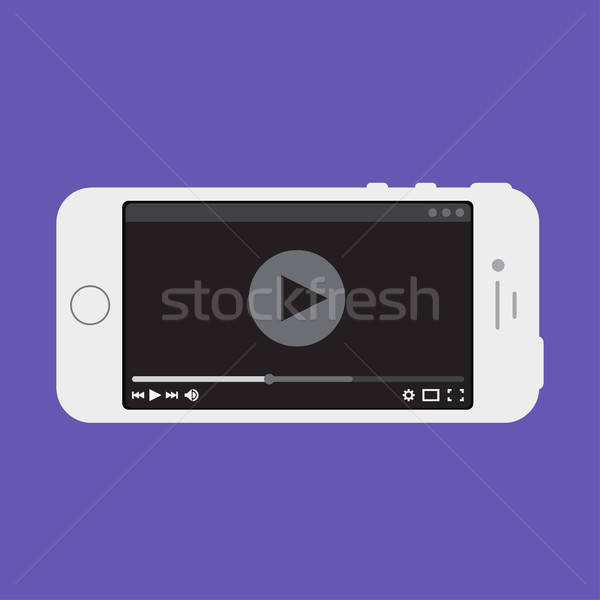Web sjabloon smartphone video vorm telefoon Stockfoto © barsrsind