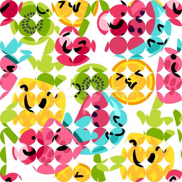 Nyár gyümölcsök minták vektor rajz stílus Stock fotó © barsrsind