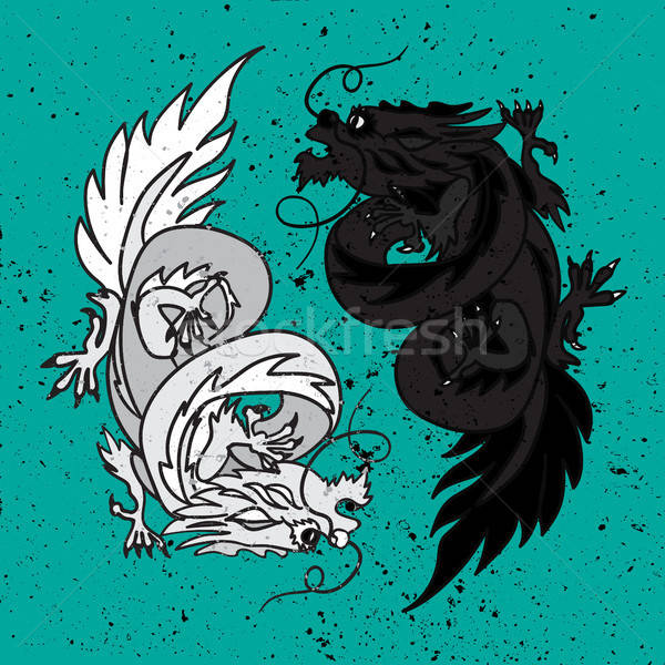 Chinese Dragon Oriental Feng Shui Stock photo © barsrsind
