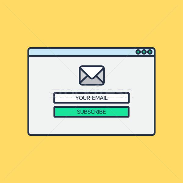 Forma e-mail boletim informativo teia modelo elementos Foto stock © barsrsind