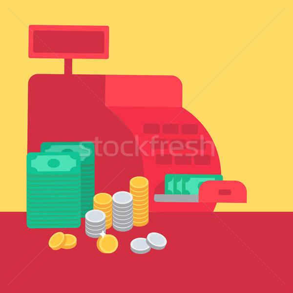 レジ お金 コイン コマース ストア シンボル ストックフォト © barsrsind
