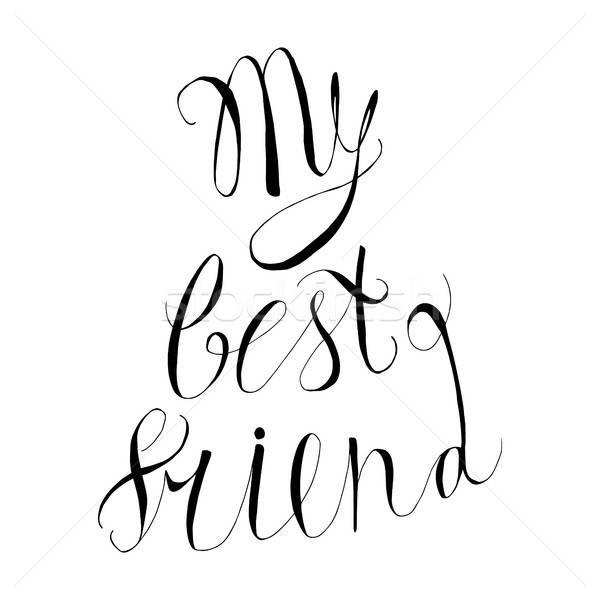 Vintage przyjaźni wyrażenie mój Zdjęcia stock © barsrsind