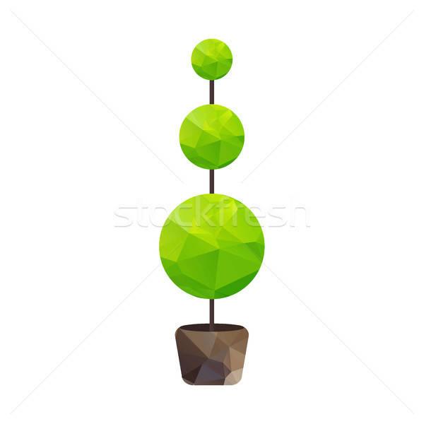 Vector triángulo árbol olla naturaleza símbolo Foto stock © barsrsind