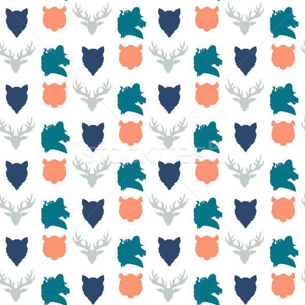 Wildlife seamless pattern Stock photo © barsrsind