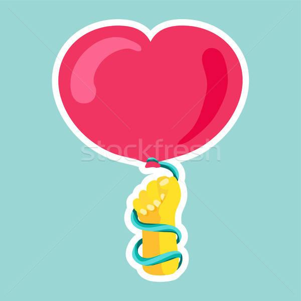 Vektor romantikus szeretet folt firka stílus Stock fotó © barsrsind