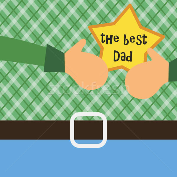 Vector Happy Fathers Day concept Stock photo © barsrsind