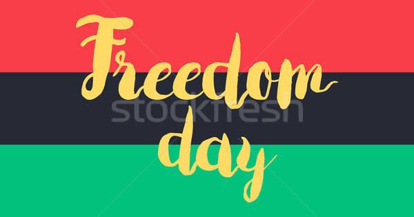 Szabadság nap zászló szalag 19 Afrika Stock fotó © barsrsind