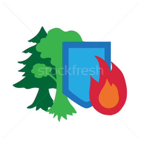 Környezet védelem ikon matrica ökológia természet Stock fotó © barsrsind