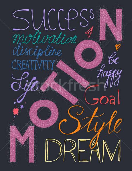 Success lifestyle lettering Stock photo © barsrsind