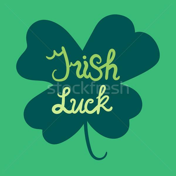 İrlandalı yonca motivasyon başlık aziz Stok fotoğraf © barsrsind