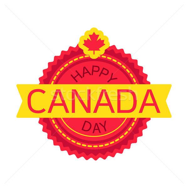 Happy Canada Day Stock photo © barsrsind