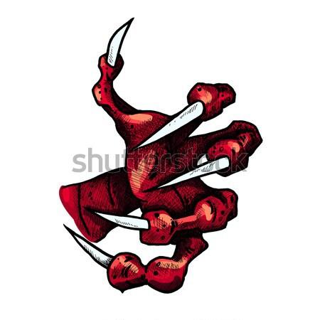 дракон монстр лапа татуировка Сток-фото © barsrsind