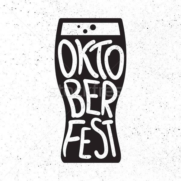 Oktoberfest placa cerveza festival hecho a mano Foto stock © barsrsind