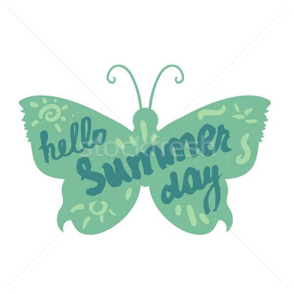 Hello Summer Lettering Stock photo © barsrsind