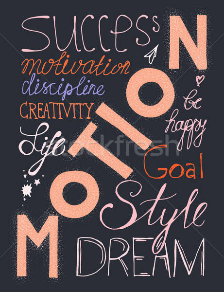 Siker életstílus klasszikus kézzel rajzolt hipszter szavak Stock fotó © barsrsind