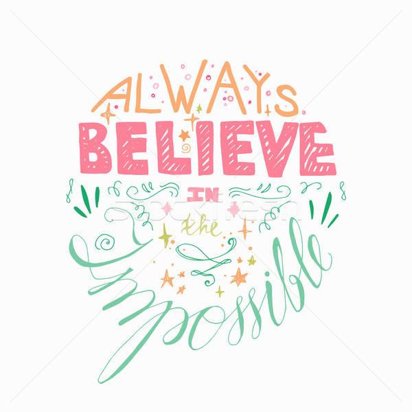 Motivatie poster citaat droom weefsel print Stockfoto © barsrsind