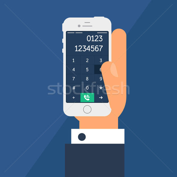Smartphone with a dial Stock photo © barsrsind