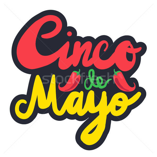 Mayonesa festival etiqueta chile anunciante vector Foto stock © barsrsind
