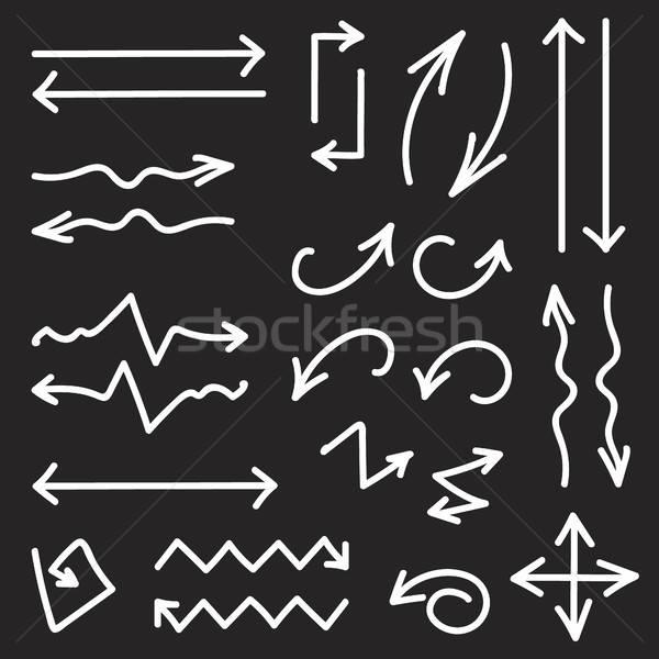 Vettore nero set 26 frecce Foto d'archivio © barsrsind