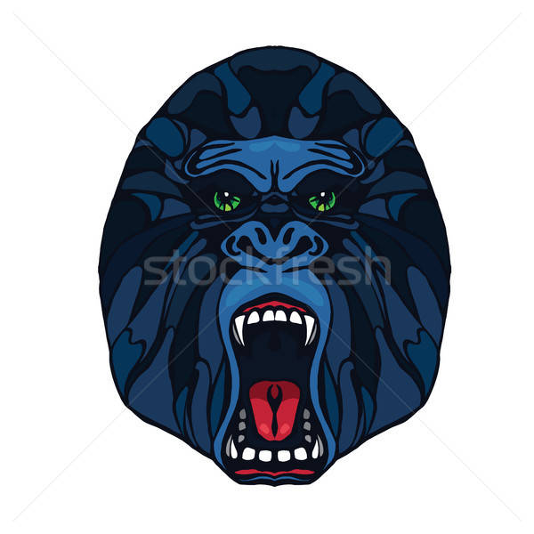 Growling gorilla tattoo Stock photo © barsrsind