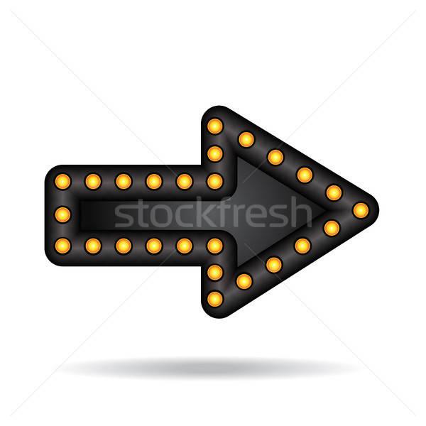 Stockfoto: Neon · pijl · elektronische · lampen · bar