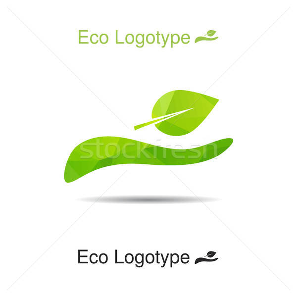 Vector ecology logo or icon, nature logotype Stock photo © barsrsind