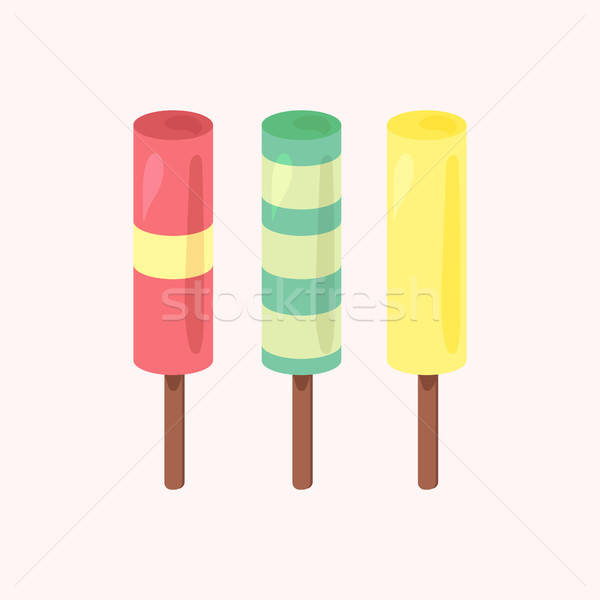 Stock photo: Vector set of ice-creams