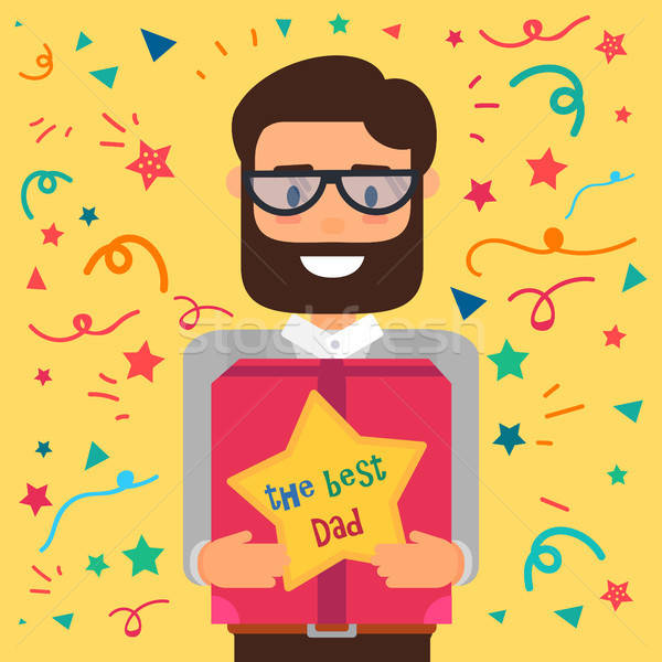 Happy Fathers Day Stock photo © barsrsind