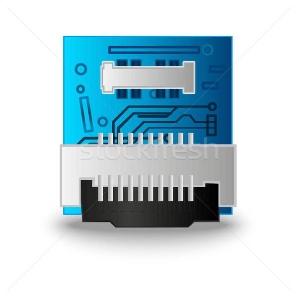 Puce ordinateur processeur 3D illustration graphique Photo stock © barsrsind