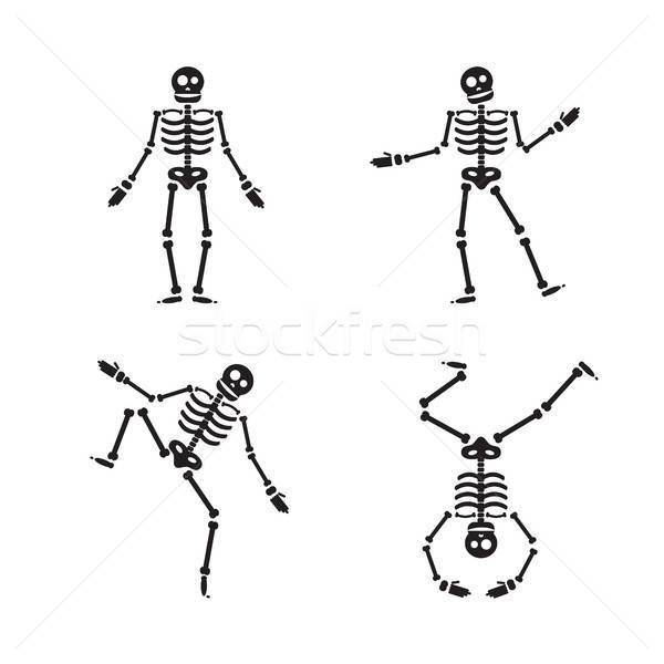 Happy Halloween skeleton illustration Stock photo © barsrsind