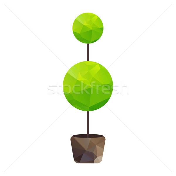 üçgen ağaç pot vektör doğa simge Stok fotoğraf © barsrsind