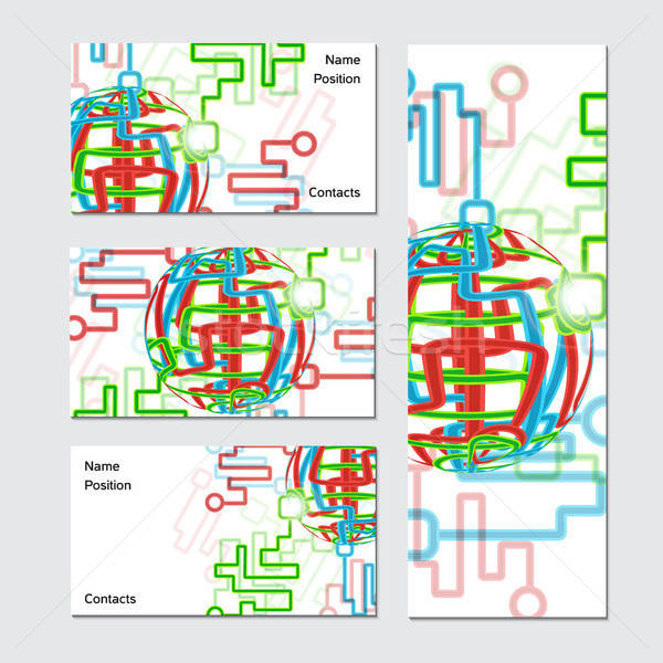 Wereldwijde business kaart netwerk internet digitale Stockfoto © barsrsind