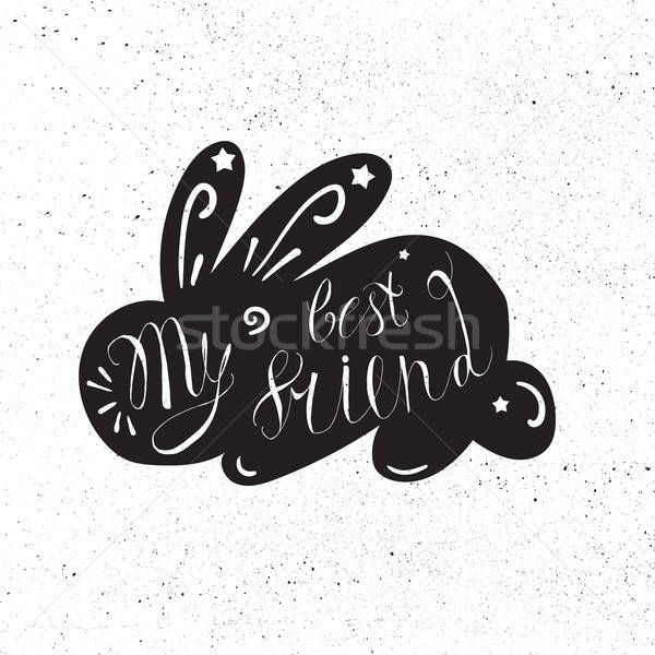 Klasszikus kézzel rajzolt díszállat hipszter kifejezés enyém Stock fotó © barsrsind