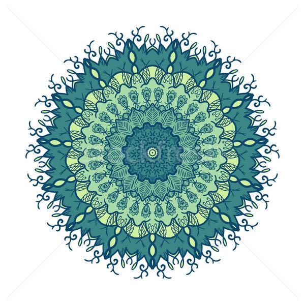 曼陀羅 行 テンプレート 手描き アラビア語 インド ストックフォト © barsrsind
