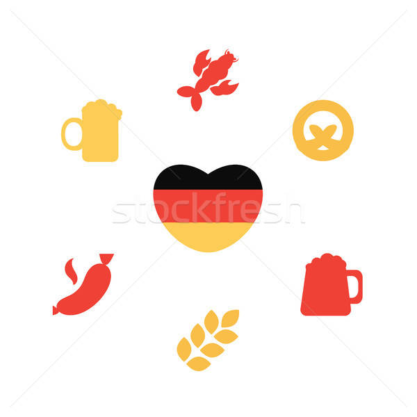 Oktoberfest icons set Stock photo © barsrsind