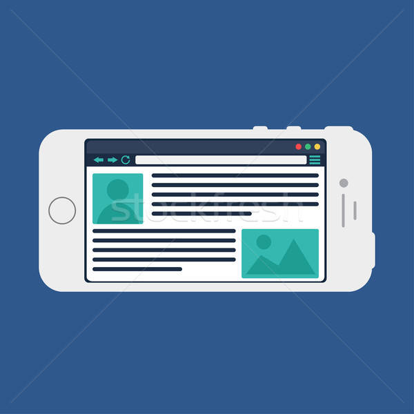 Web Template of Smartphone Site or Article Form Stock photo © barsrsind