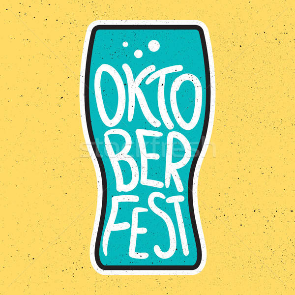 Oktoberfest Lettering Badge Stock photo © barsrsind