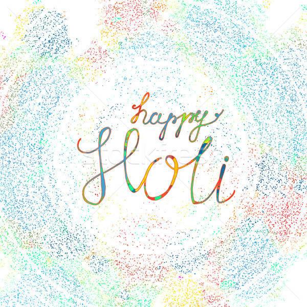 Happy Holi Festival Stock photo © barsrsind