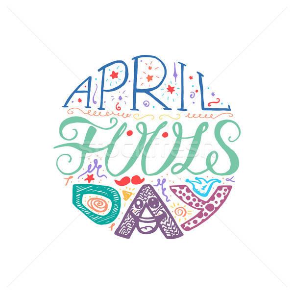 April Fools Day  Lettering Stock photo © barsrsind