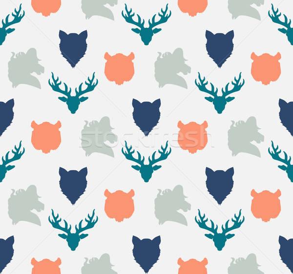 Fauna zoológico ornamento impresión tejido Foto stock © barsrsind