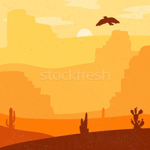 Wild West Landscape Stock photo © barsrsind