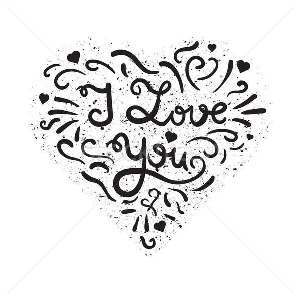 Valentin nap esküvő szeretet kártya klasszikus szív Stock fotó © barsrsind