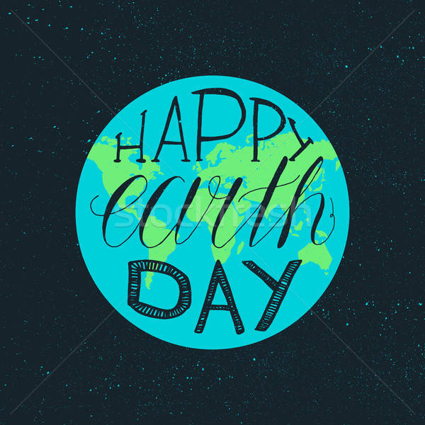 Feliz día de la tierra ilustración impresión anunciante saludo Foto stock © barsrsind