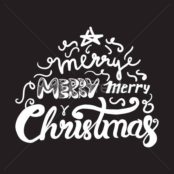 Neşeli Noel happy new year örnek noel Stok fotoğraf © barsrsind