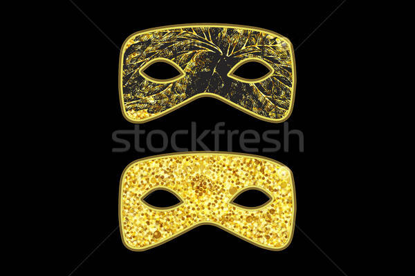 Gold Masquerade Masks Stock photo © barsrsind
