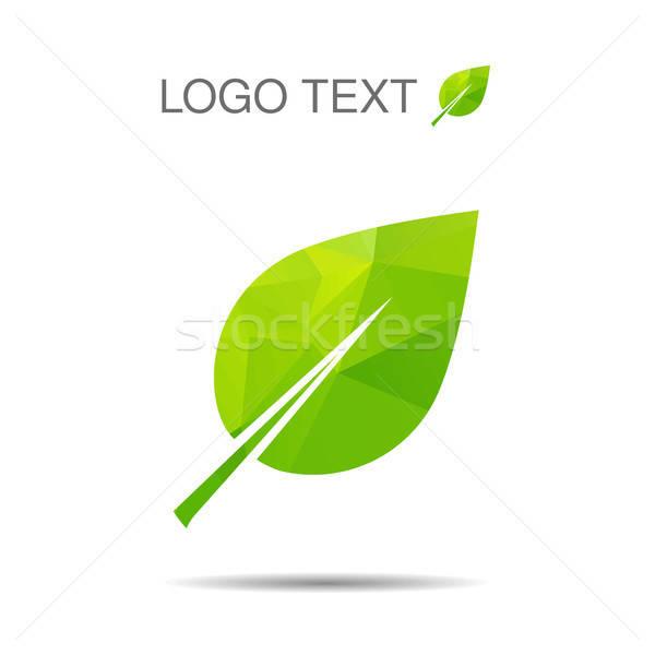 ökológia logo ikon eps természet logotípus Stock fotó © barsrsind