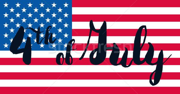 Dzień USA uroczystości banner amerykański Zdjęcia stock © barsrsind