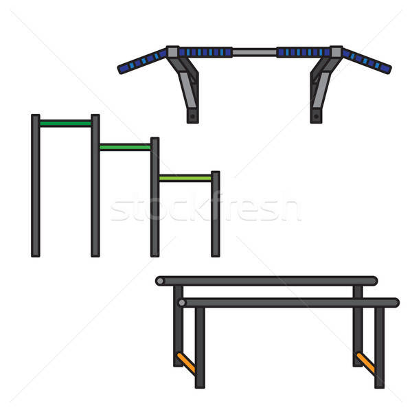 Sports equipment for street workout Stock photo © barsrsind